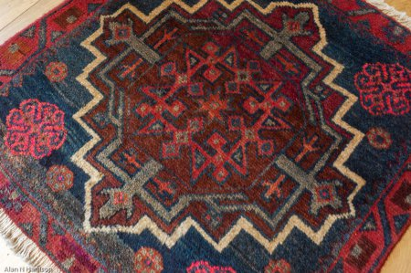 Hand-Knotted Afshah Rug From Iran (Persian)