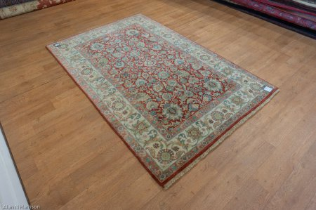 Hand-Knotted Indo Persian Rug From India