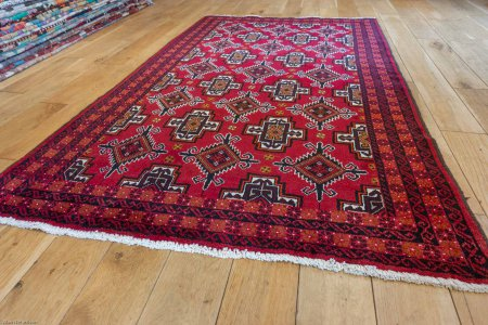 Hand-Knotted Beluch Rug From Afghanistan