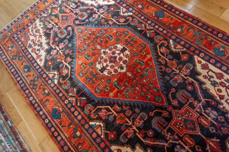 Hand-Knotted Nahavand Rug From Iran (Persian)