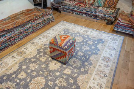 Hand Made Mazar Stool Kilim Footstool From Afghanistan