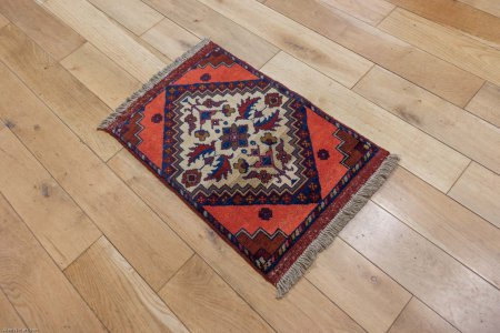 Hand-Knotted Khan Mahomadi Rug From Afghanistan