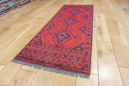 Hand-Knotted Khan Mahomadi Runner From Afghanistan
