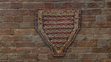 Hand-Knotted Rizini Caucasian Wall Hanging From Iran (Persian)