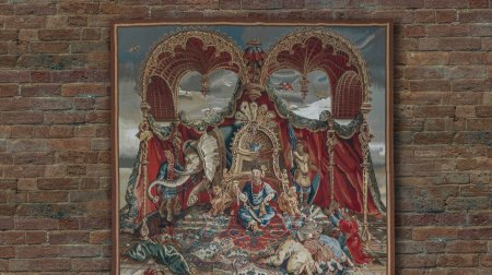 Hand Made Renaisance Aubusson Wall Hanging From China