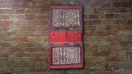 Hand-Knotted Sirjand Wall Hanging From Iran (Persian)