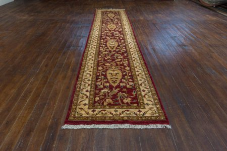 Hand-Knotted Garous Runner From Pakistan