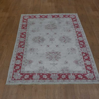 Hand Knotted Sultanabad Ziegler Rug From Afghanistan Sn