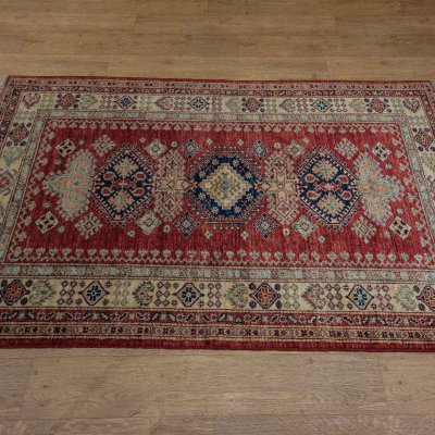 Hand Knotted Kazak Rug From Afghanistan Sn 22393 Olney